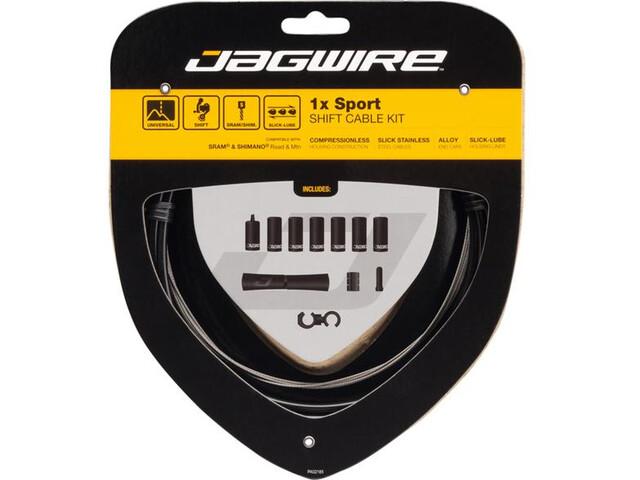 Jagwire 1X Sport Shift Set de câble de dérailleur, black